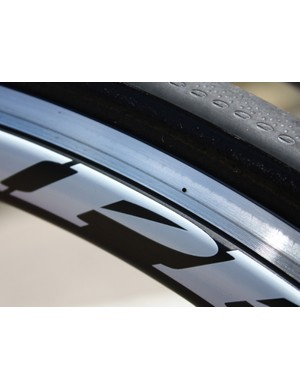 The little circle on the brake track indicates wear