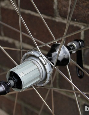 Three freehub bodies are available: Shimano 10-speed, Campagnolo and SRAM 10-speed or Shimano 8/9/10-speed
