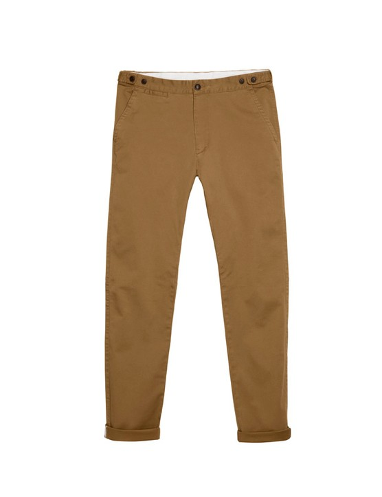 Stretch chinos are also part of the range