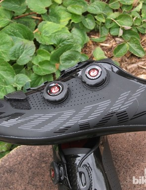 The new Boa dials are easy to grab and turn thanks to grippy rubber materials and serrated edges