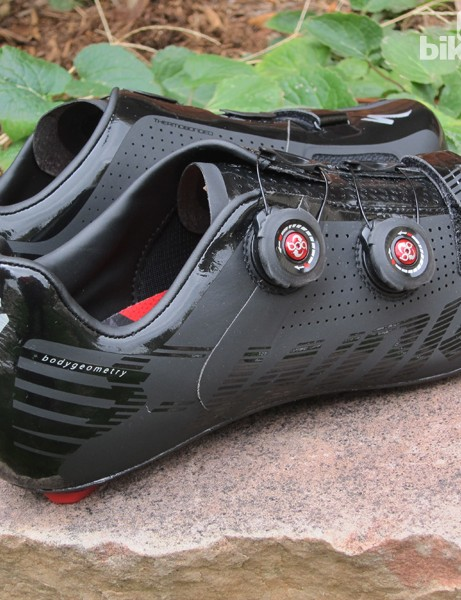If black-on-black doesn't do it for you, Specialized also offers the S-Works Road shoes in two other color schemes
