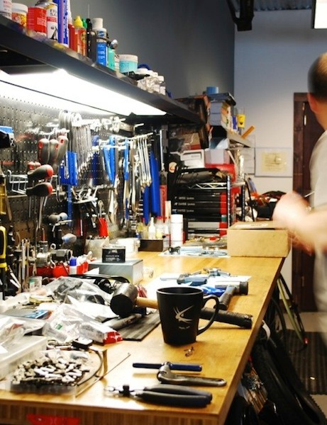 The shop caters to specialty and high end bikes, but will happily service any and all bicycles