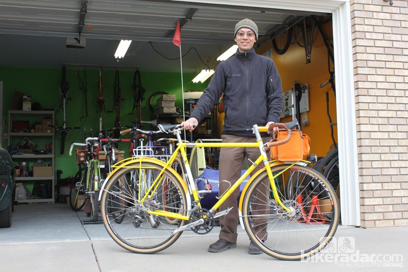 Renold Yip showing off his personal road bike