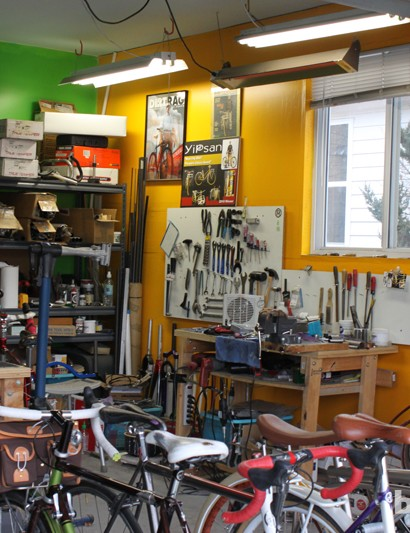 Like many builders, Yip works out of his garage.