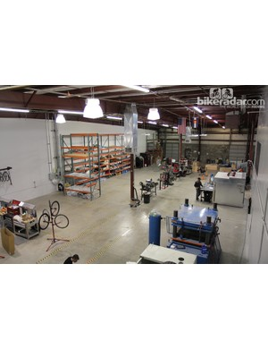 Alchemy Bicycles occupies a nondescript industrial building in Denver right on the popular Cherry Creek bike path