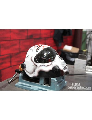 Alchemy welder Jeff Wager's welding mask certainly gets a lot of play - and for good reason