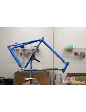 Alchemy will also show off this retro-themed stainless steel road frame at this year's NAHBS. And just wait until you see the component group that's going on it, too