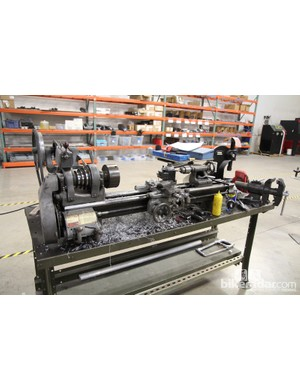 This lathe sees a lot of action