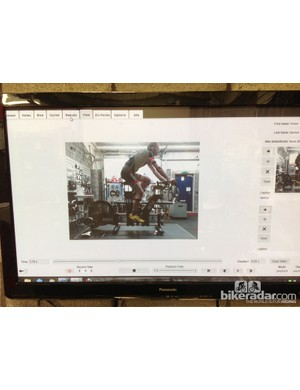 Riding position can be monitored by the operator via video