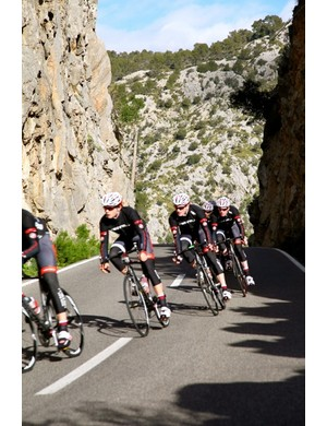 It's a tough job, but someone has to do it. Mallorcan training camps are all part of the package for NFTO team members