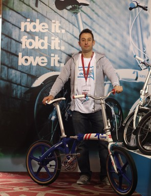 Kansi brand manager Martin Hawyes with the retro, BMX-inspired Kansi F20 special edition