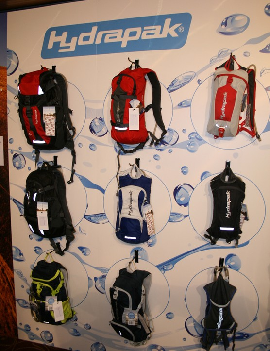 The Hydrapak range of backpacks in full view
