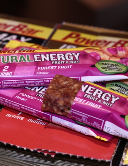 PowerBar's Natural Energy bars promise a moist, chewy fruit-based energy boost