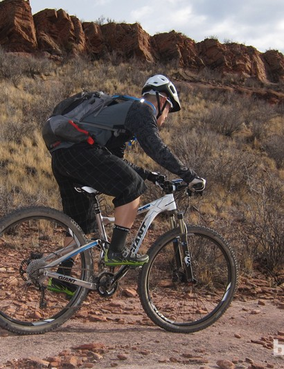The Giant Trance X 29er 0 was well suited to the big climbs - and big descents - that litter Colorado's Front Range