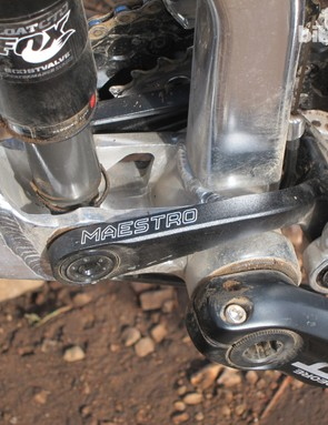 The bottom bracket features press-fit cups for use with a traditional 24mm-diameter spindle
