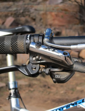 Ergonomics on the Shimano Deore XT brakes are flawless