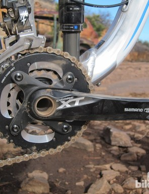Some riders might prefer the added range of a triple on the versatile Giant Trance X 29er 0 but we found the 2x10 gearing to be more than adequate for general trail riding
