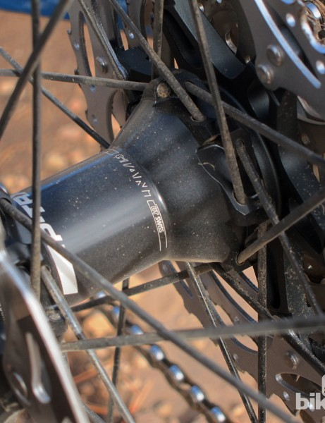 Straight-pull spokes are used throughout, while the rear hub features DT Swiss's well proven star ratchet driver mechanism