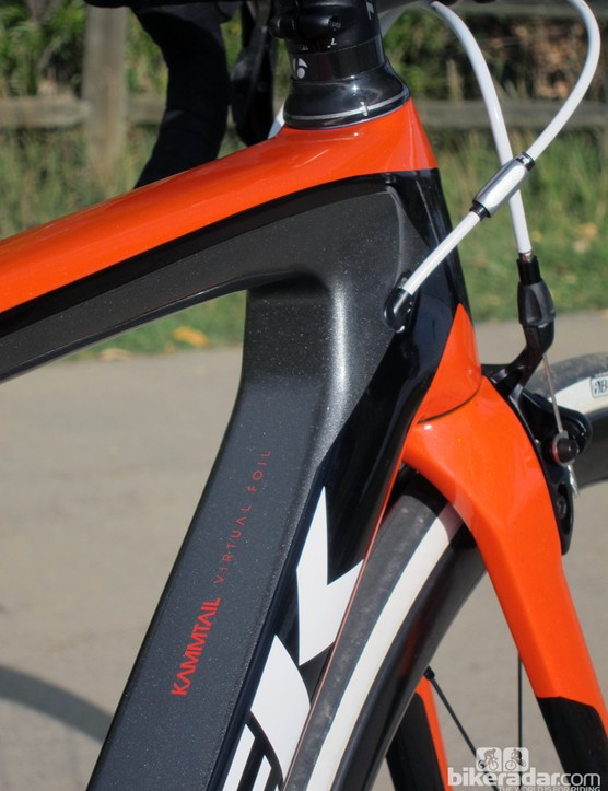 Kammtail truncated airfoil tube shaping supposedly allows for good aerodynamic performance without having to sacrifice weight and stiffness