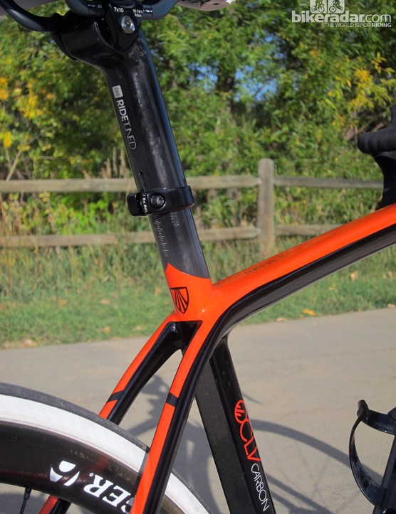 The latest Madone again uses Trek's no-cut seatmast design