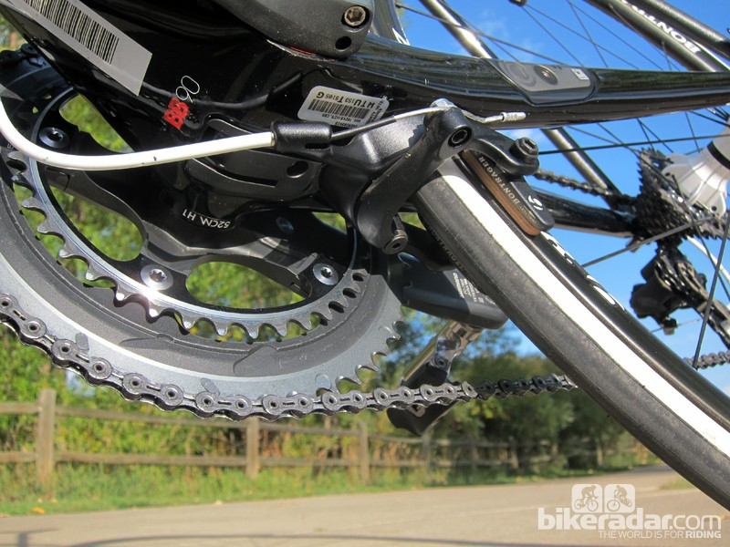 The rear brake isn't accessible while riding, meaning quick-release and cable tension adjustments have to move elsewhere. Unfortunately, we weren't able to test firsthand and long-term the effects of inclement weather on the placement