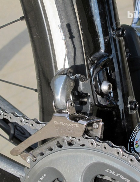 Front derailleurs are secured to a tidy tab