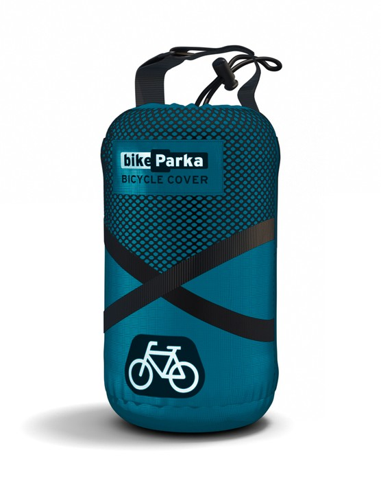When packed in the supplied stuffsack the BikeParka can be easily transported in a backpack or pannier