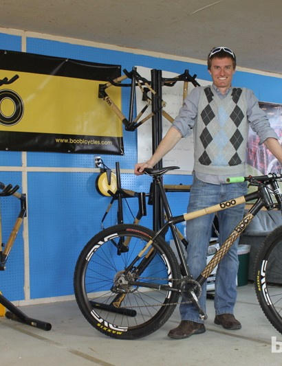 Boo Bicycles founder Nick Frey with his personal bamboo and carbon mountain bike