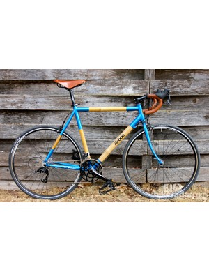 The Aluboo is a sub $1000 bicycle constructed from aluminum lugs and bamboo tubes