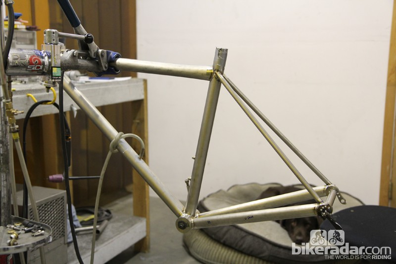 Dean Bicycles will show off this ultralight titanium frame at this year's NAHBS. Claimed weight is just 1kg (2.2lb)