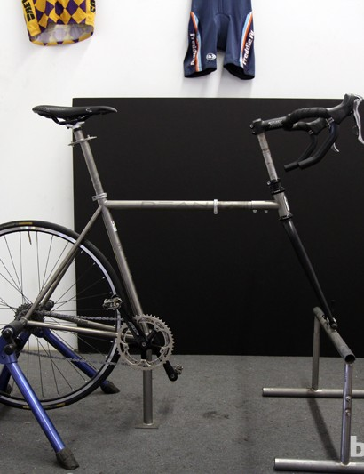 Rather than purchase an off-the-shelf fit bike, Dean simply built its own