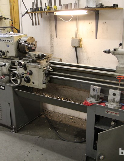 Yet another lathe sits on another side of the room