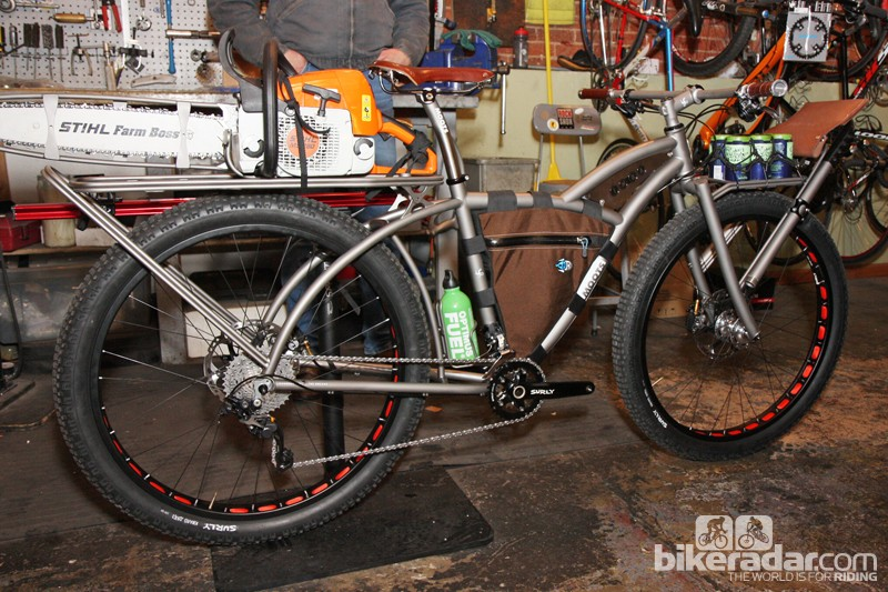 Moots designed this to be the ultimate go-anywhere, do-anything trail maintenance bike