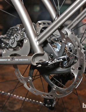 The rack stays are welded directly on the frame and fork