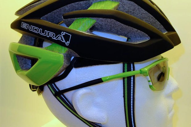 Protoype Endura helmet on show at Eurobike