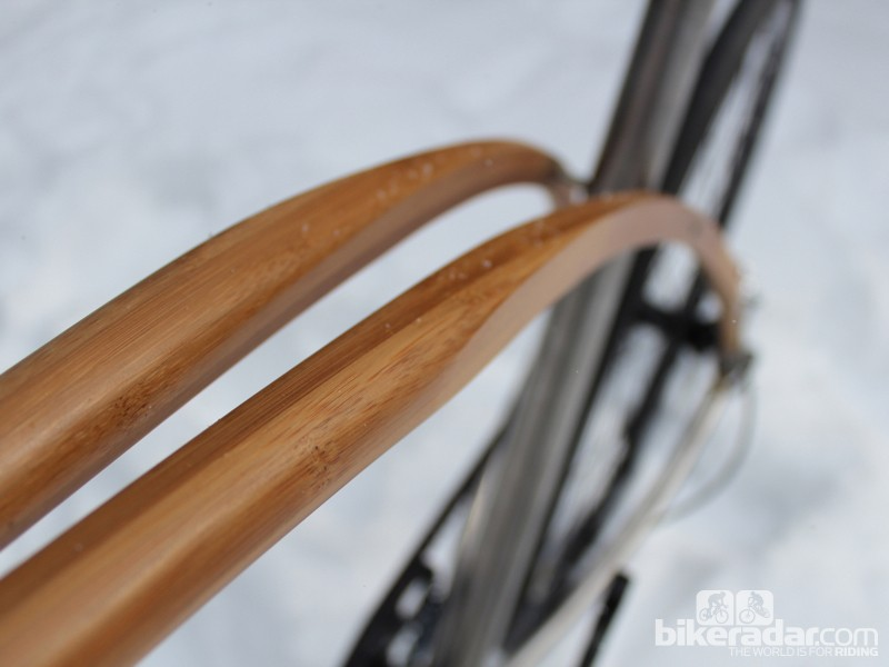 The steamed laminate bamboo is formed with molds so that it holds the desired shape