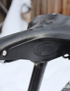 A classic Brooks saddle