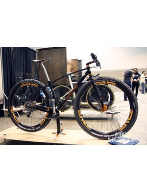 Portland area builder Rob English built this steel 29er for himself, saying it was about time he rode a geared mountain bike again