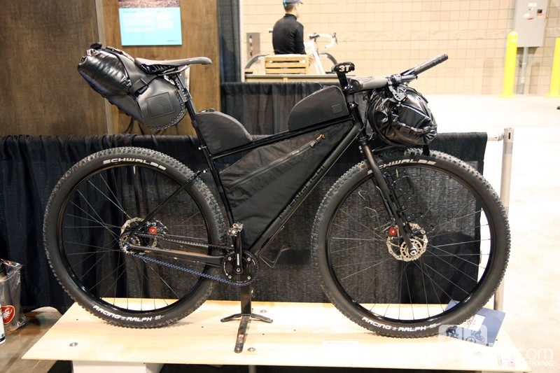 Rob English built this beast for custom bag maker Black Rainbow Project, whose owner plans to attempt the Great Divide mountain bike race