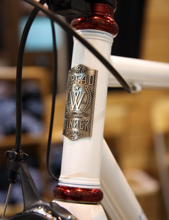 Get used to seeing this head tube badge, folks. Tony Pereira and Ira Ryan are hoping to build a lot of Breadwinners