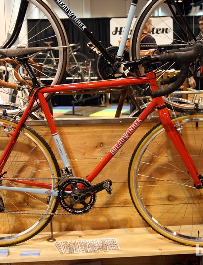 The new Breadwinner Holeshot is a dedicated cyclocross racer built with lightweight Columbus Life steel tubing