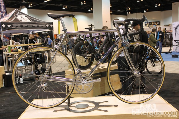 Alchemy's stainless steel creation stands out among the company's many carbon frames