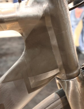 There's just a thin clearcoat over the nude carbon frame