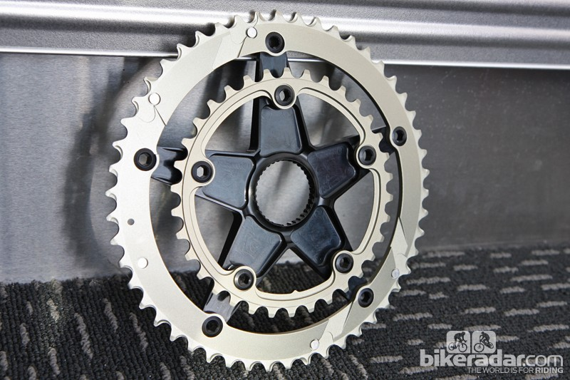 Chainrings are bolted directly to the spider with no additional nuts required
