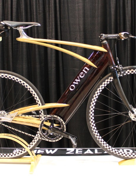 This Owen bike features mahogany, hickory and ash wood