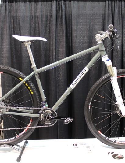 Samsara used a metal flake finish for its show bike