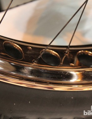 It's not like weight is a concern with fat bike wheels. Why not plate them in copper?