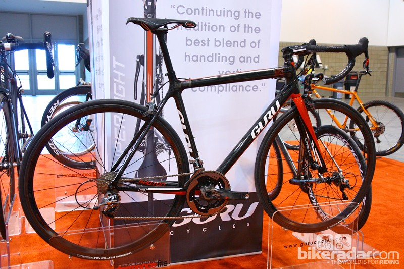 Guru's previous Photon now morphs into a three-bike range, including the new Photon SL. Still extremely light at under 750g for a 54cm frame (claimed), this model is said to be the most comfortable of the three and also features a slightly taller head tube on stock models