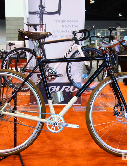Guru also showed off this eye-catching townie, based on the current Sidero-T touring frame. The complete model is likely to be green-lighted for production and will probably be called the Uptown