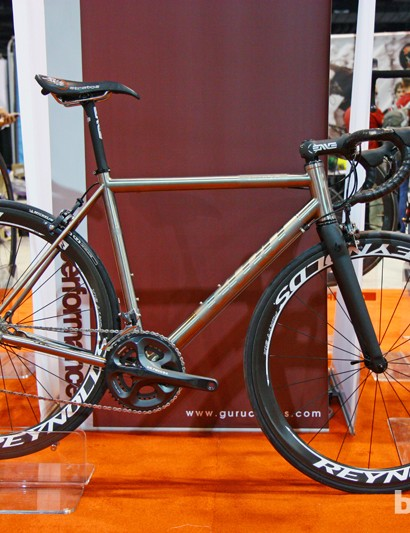 Guru's top-end titanium road bike, the Praemio-R, remains unchanged for 2013